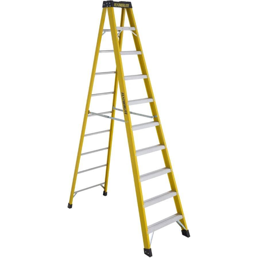 FEATHERLITE:10' #1A Fibreglass Step Ladder