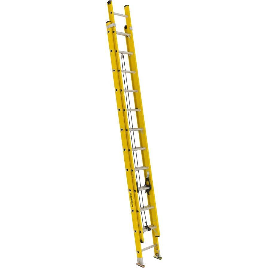FEATHERLITE:24' #1A Fibreglass Extension Ladder
