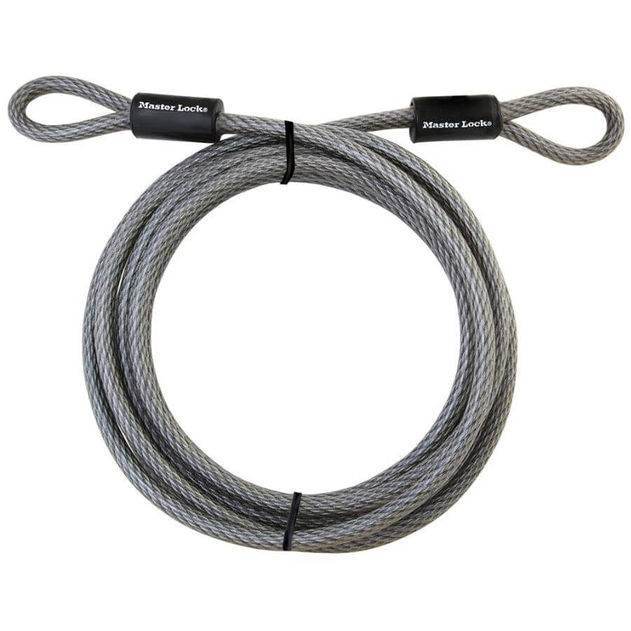 MASTER LOCK:10mm x 15' Braided Loop Cable