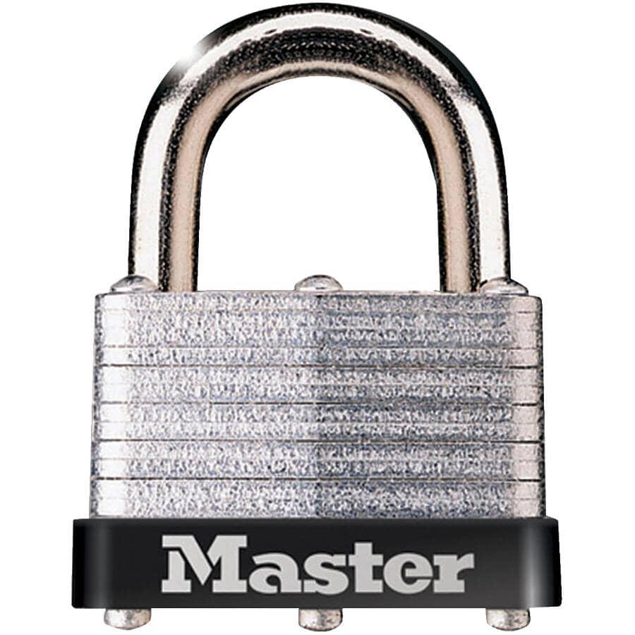 "MASTER LOCK:1-9/16"" Warded Laminated Steel Padlock"