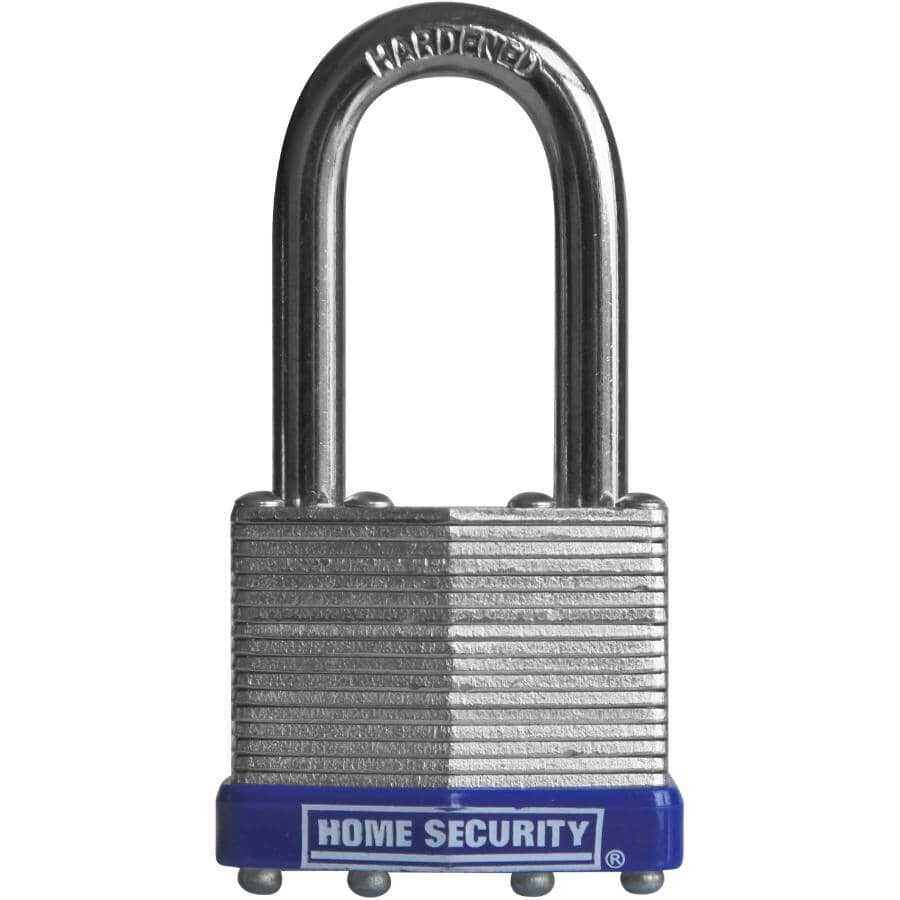 """HOME SECURITY:1-1/2"""" Laminated Padlock, with 1-1/2"""" Shackle"""