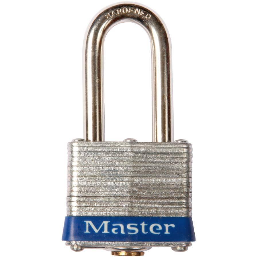 MASTER LOCK:Cadenas de 1-9/16 po à goupille universelle avec arceau de 1-1/2 po