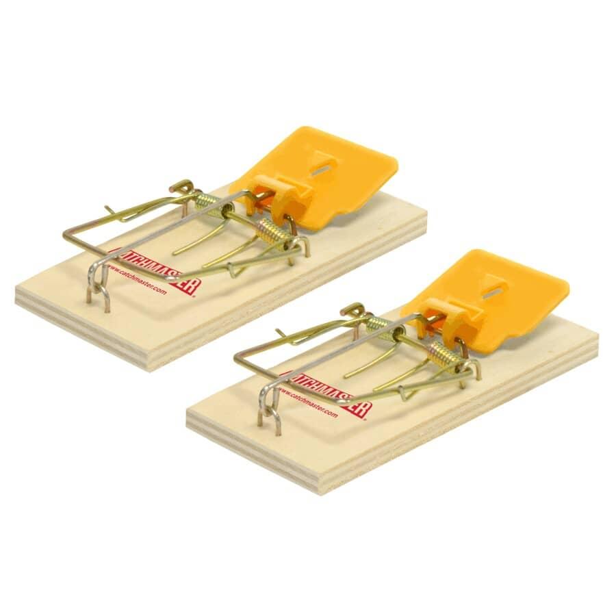 CATCHMASTER:Paquet de 2 pièges à souris en bois