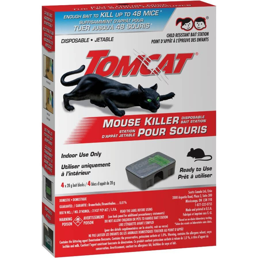 TOMCAT:Disposable Mouse Bait Station - 4 Pack