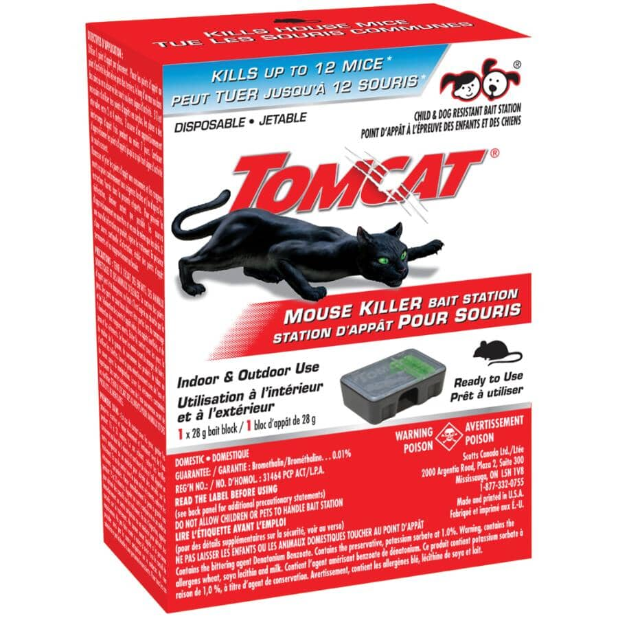 TOMCAT:Mouse Killer Disposable Bait Station - Indoor & Outdoor Use
