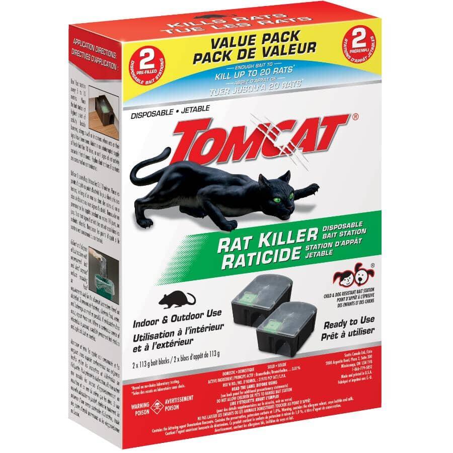 TOMCAT:Disposable Rat Killer Bait Station - 2 Pack