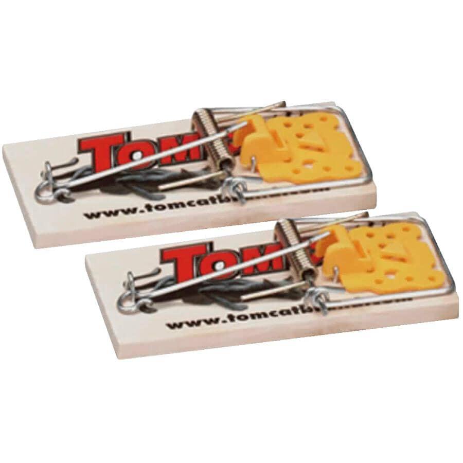 TOMCAT:Paquet de 2 pièges en bois pour souris