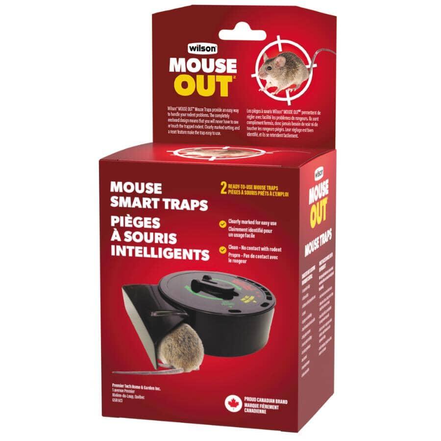 WILSON:Predator Smart-Trap Disposable Mouse Trap - 2 Pack