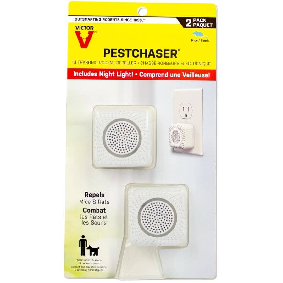 VICTOR:Paquet de 2 répulsifs pour rongeur PestChaser, avec veilleuse