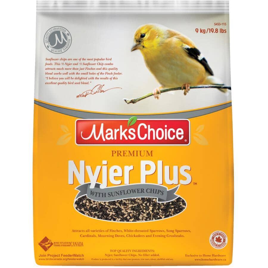 MARK'S CHOICE:Graines pour oiseaux Nyjer Plus de première qualité avec copeaux de tournesol, 9 kg