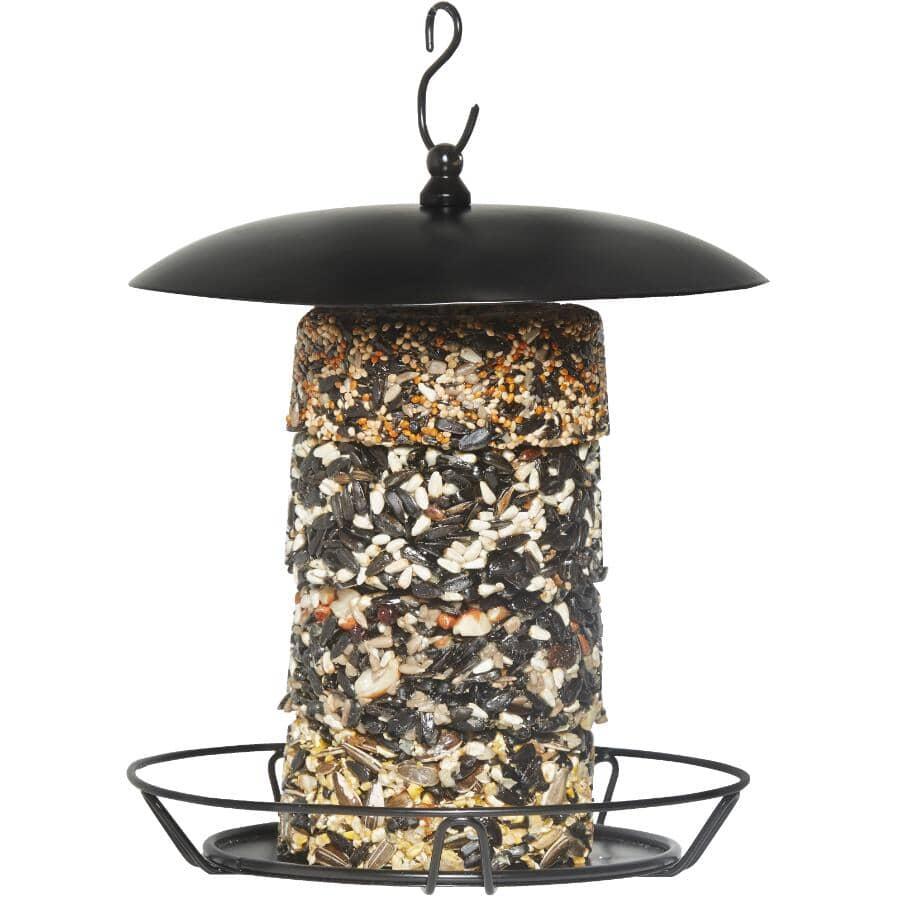 ARMSTRONG:Mangeoire à oiseaux en métal Royal Jubilee pour grano-beignes empilables, noir