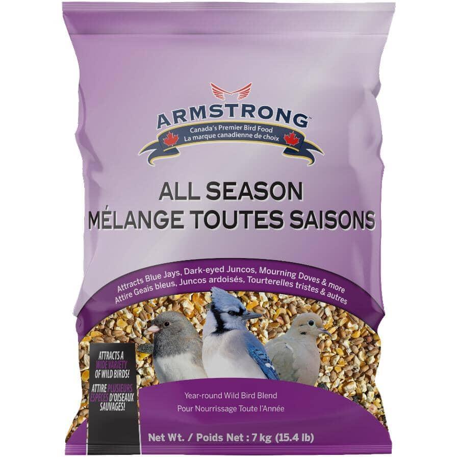 ARMSTRONG:Graines mélangées toutes saisons Feather Treat pour oiseaux, 7 kg