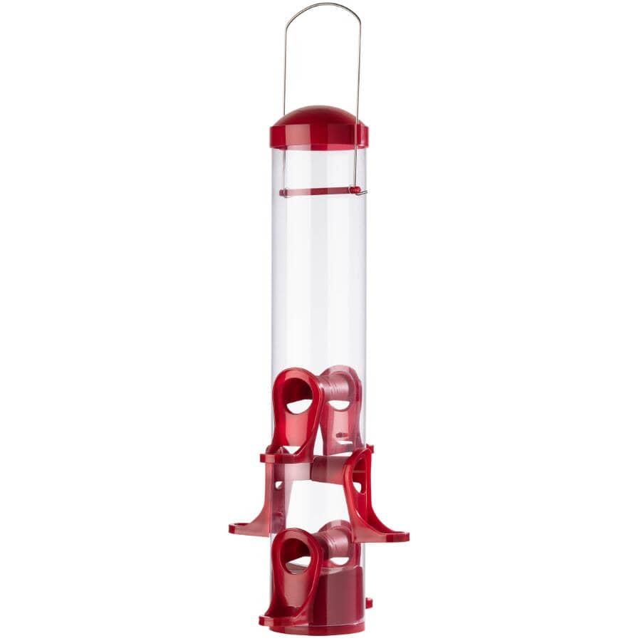 STOKES SELECT:Mangeoire tubulaire à oiseaux pour graines mélangées, capacité de 1,6 lb