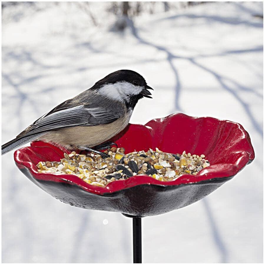 LEGION:Poppy Bowl Bird Feeder - with Ground Stake