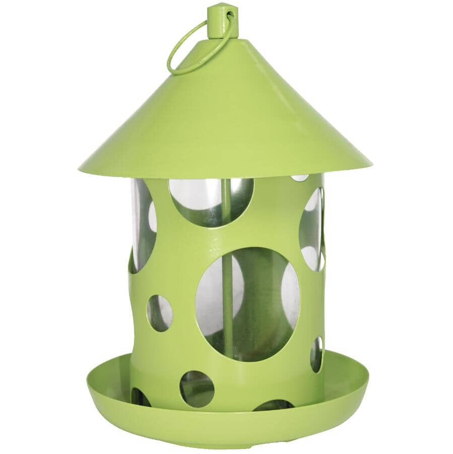 PINEBUSH:Polka Dot Bird Feeder - Assorted Colours, 1 lb Capacity