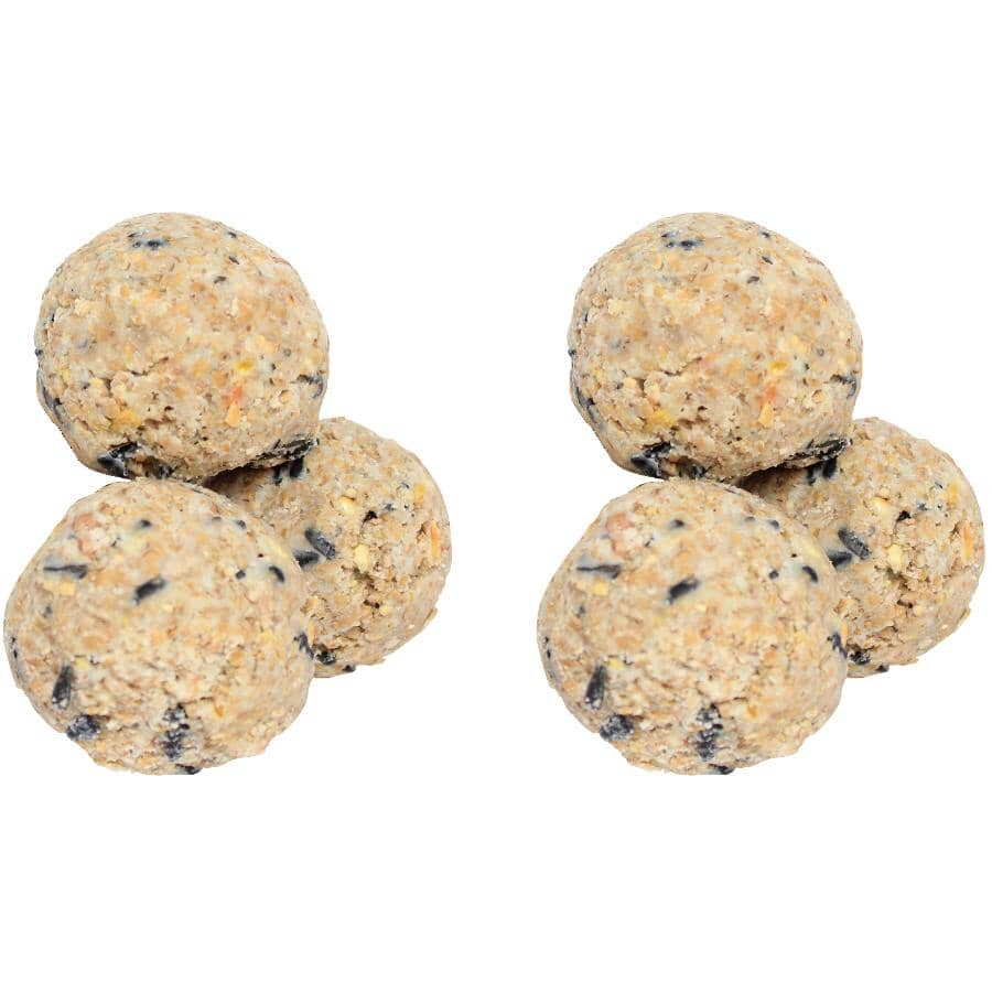 PINEBUSH:Suet Balls Bird Food - Peanut, Small, 6 Pack