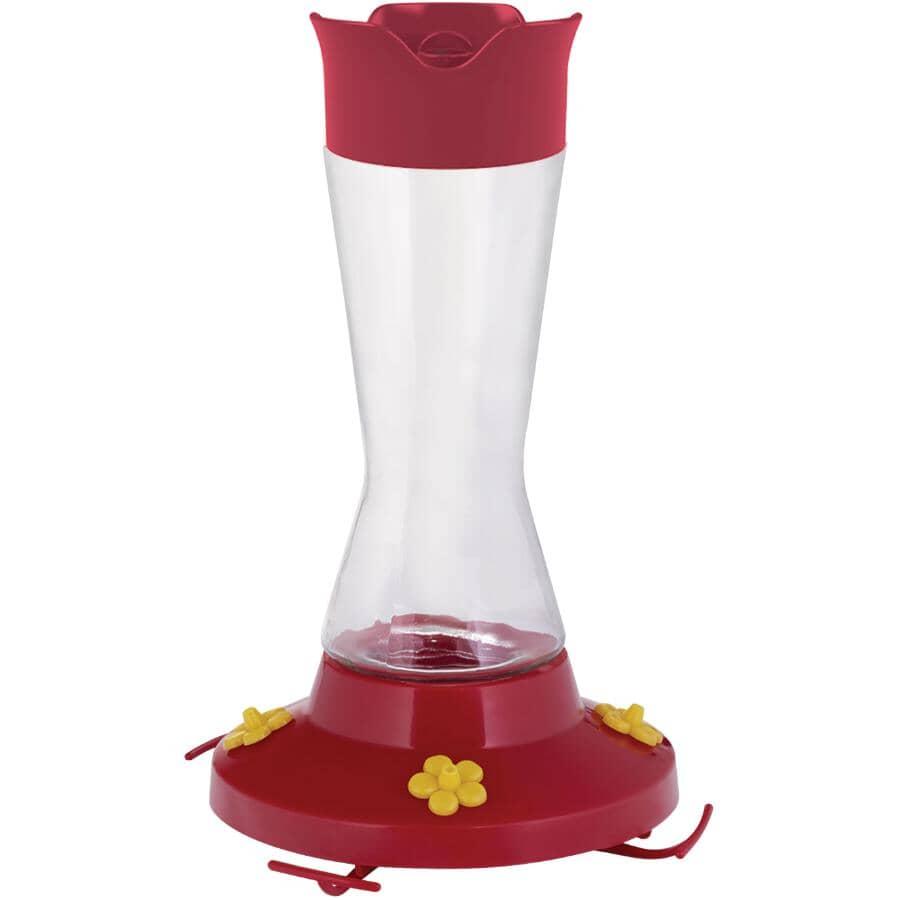 PERKY PET:Super Pinch-Waist Glass Hummingbird Feeder - 16 oz