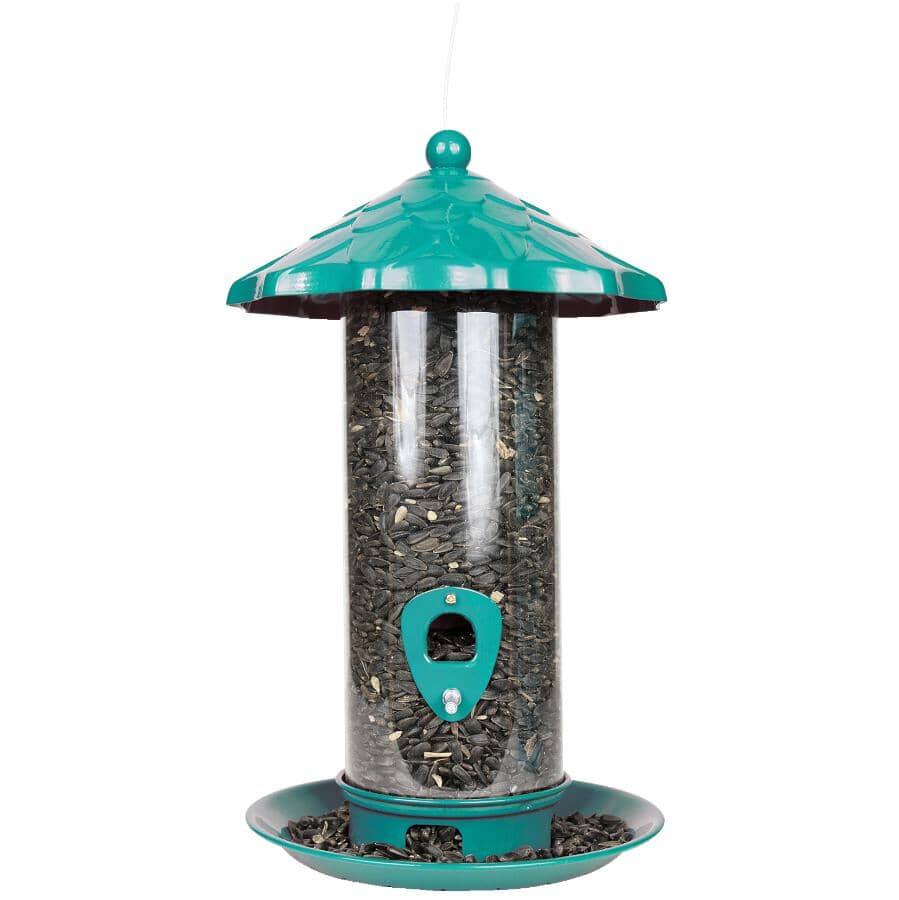 PINEBUSH:Metal Tube Bird Feeder - Assorted Colours, 1.75 lb Capacity