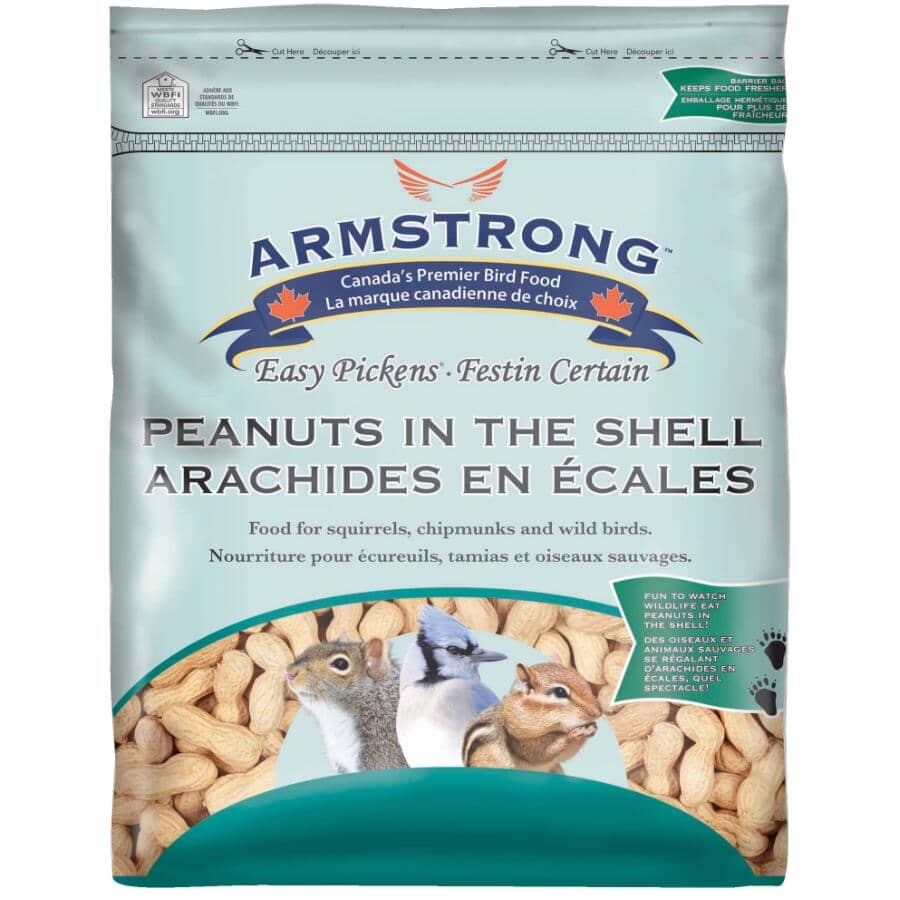 ARMSTRONG:Easy Pickens Raw In-Shell Whole Peanuts Bird Food - 4.54 kg