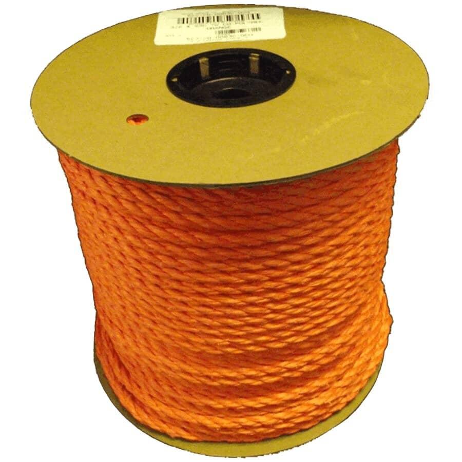 CANADA CORDAGE:Corde en polymère torsadé orange de 3/8 po, au pied, 1 pi