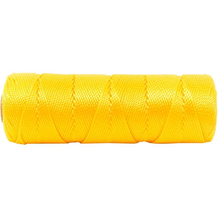 KINGCORD:425' #18 Yellow Polypropylene Twisted Mason's Twine