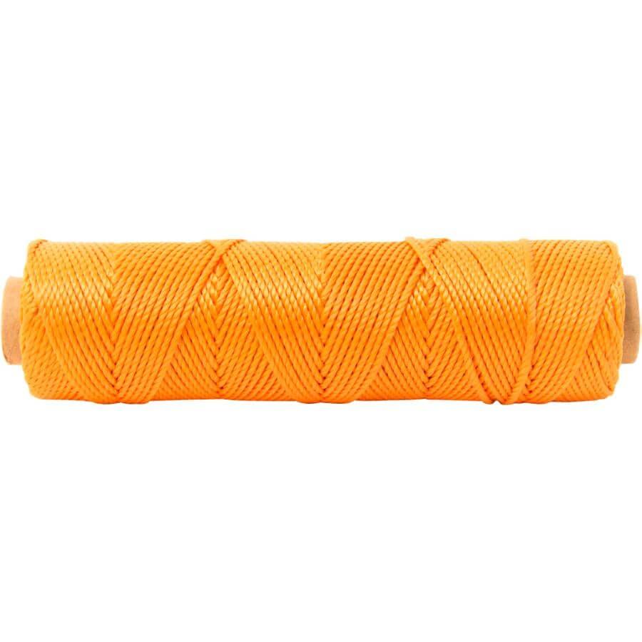 KINGCORD:215' #18 Orange Polypropylene Twisted Mason's Twine