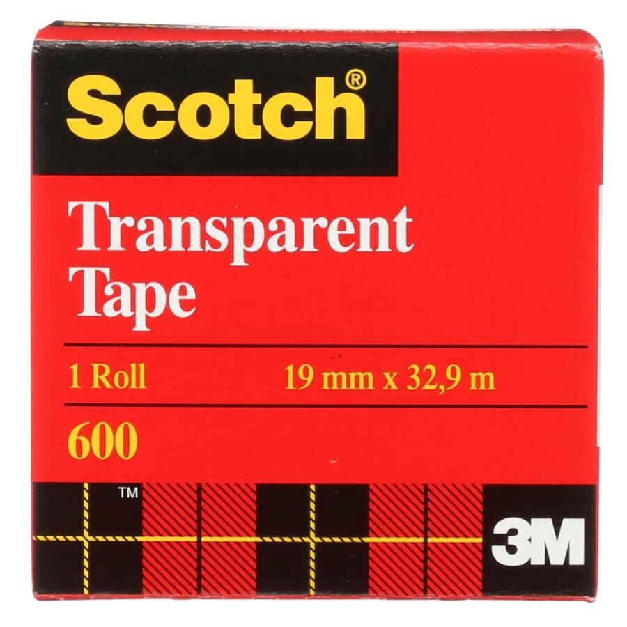 SCOTCH:Recharge de ruban adhésif transparent, 19 mm x 33 m