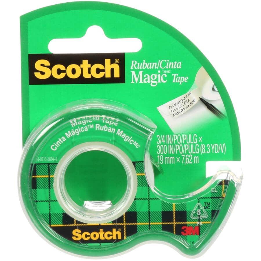 SCOTCH:Rouleau de ruban Magic transparent, 19 mm x 7,6 m