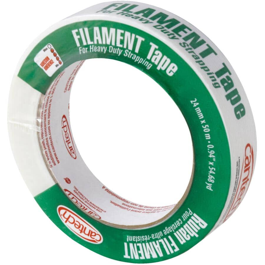 CANTECH:Filament Heavy Duty Strapping Tape - 24 mm x 50 M