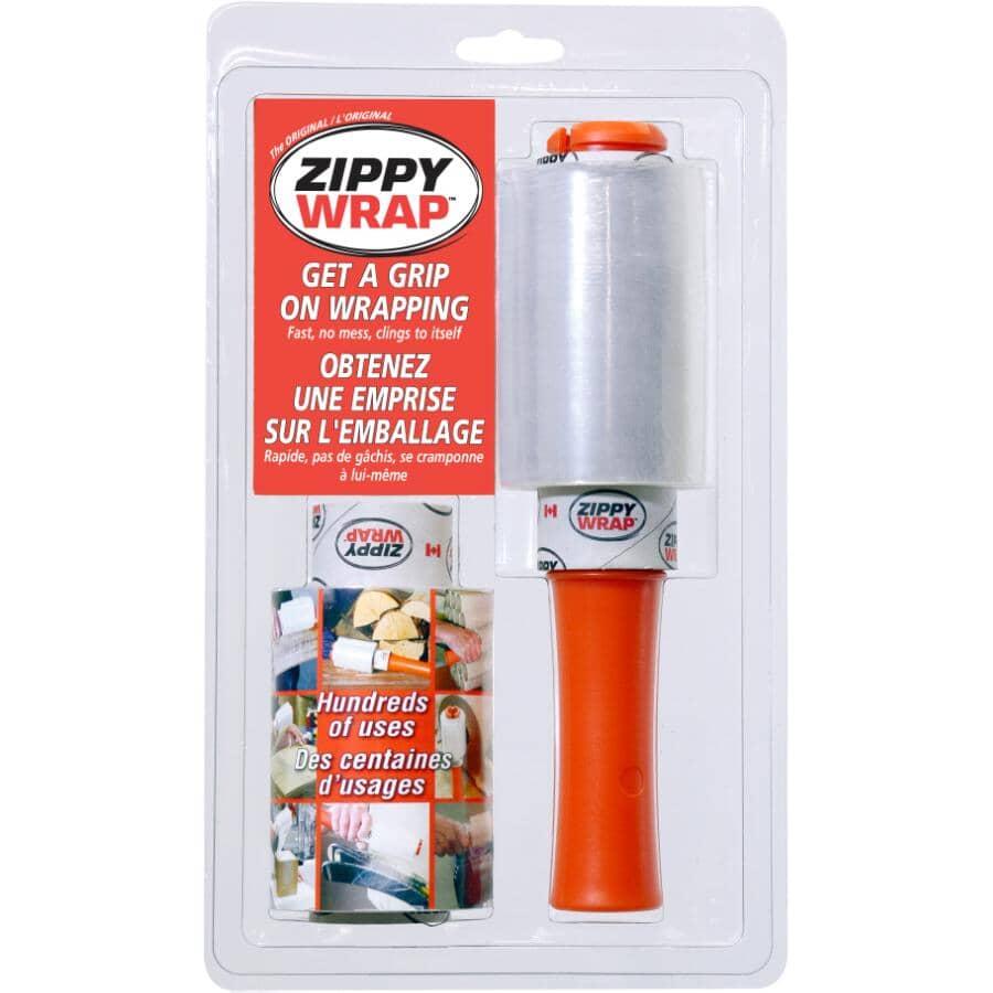 """ZIPPY WRAP:Stretch Wrap - with Handle & Refill, 4"""" x 500'"""