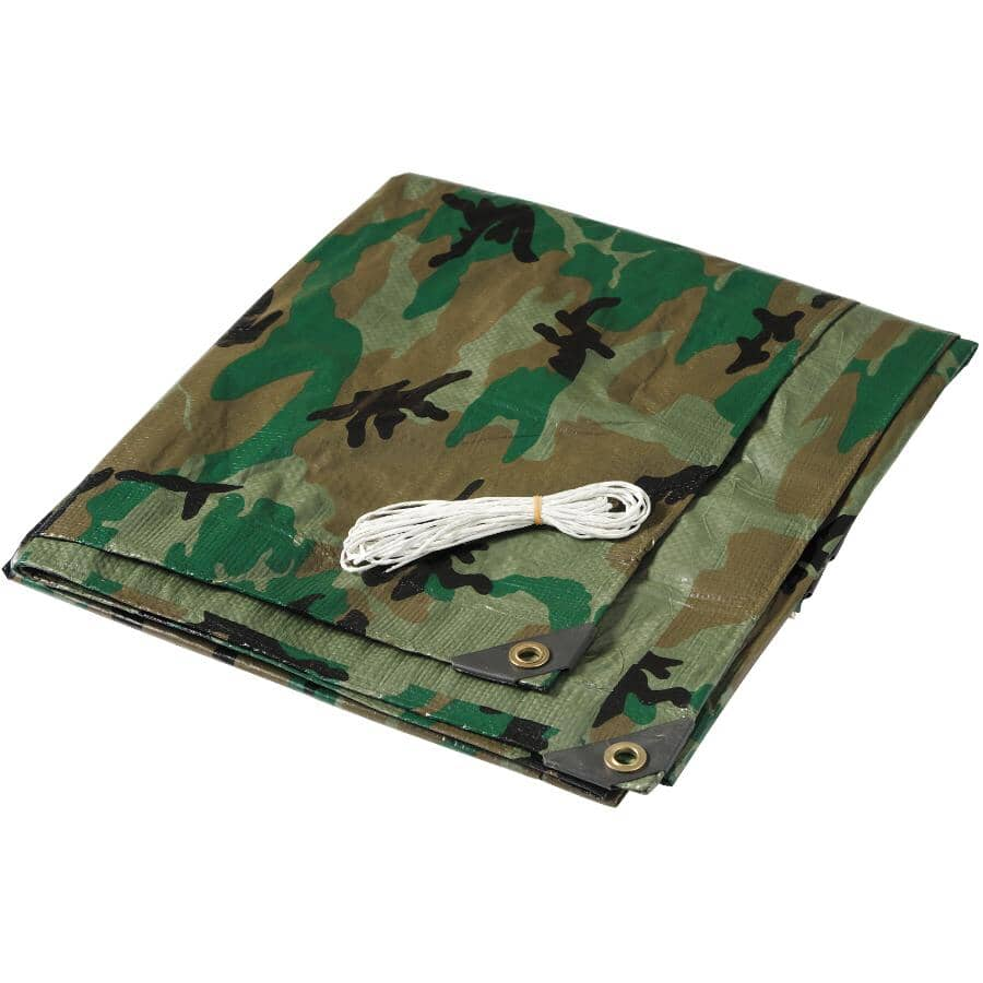 COUNTRY HARDWARE:6' x 8' Camouflage Poly Tarpaulin