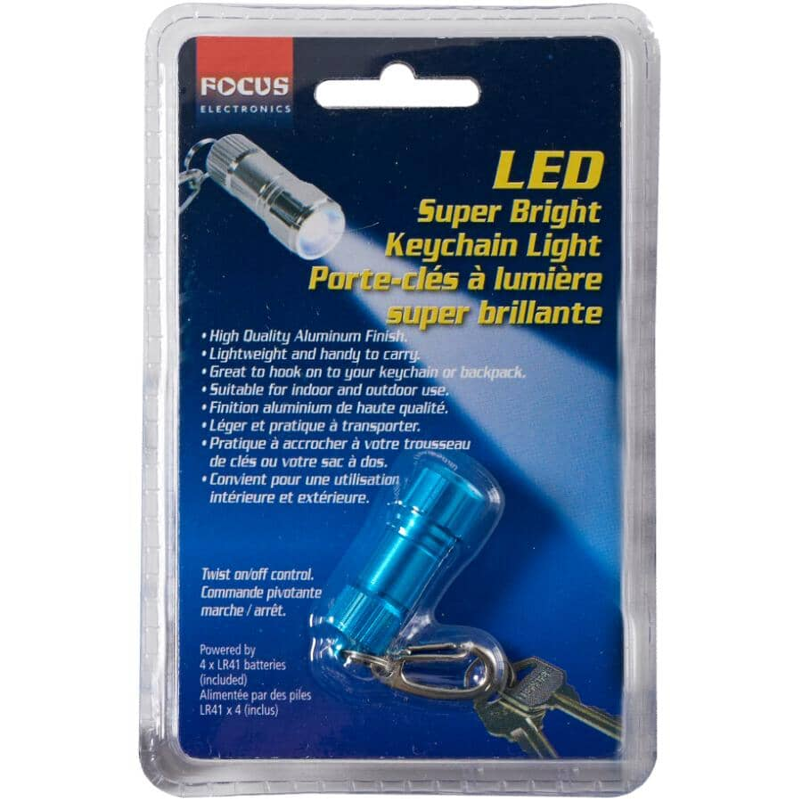FOCUS ELECTRONICS:LED Light Keychain - Battery Operated, Assorted Colours
