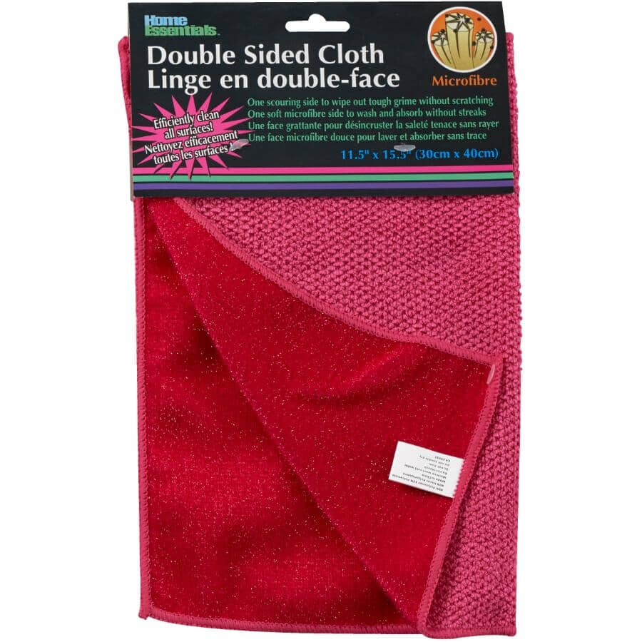 HOME ESSENTIALS:Double Sided Microfibre Dish Cloth - Assorted Colours