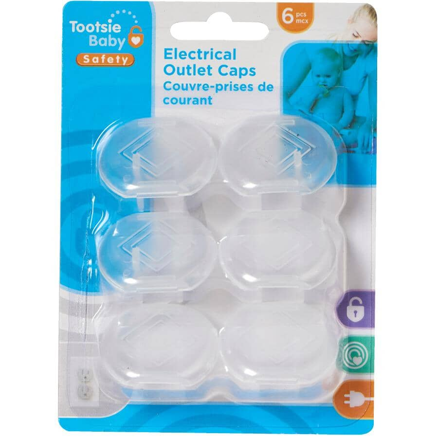TOOTSIE BABY:Child Safety Outlet Caps - 6 Pack