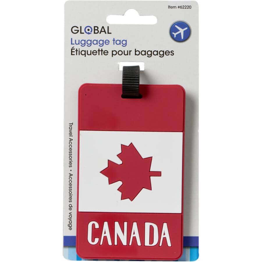 """GLOBAL:Luggage Tag - Canada Flag, 4.2"""" x 2.5"""""""