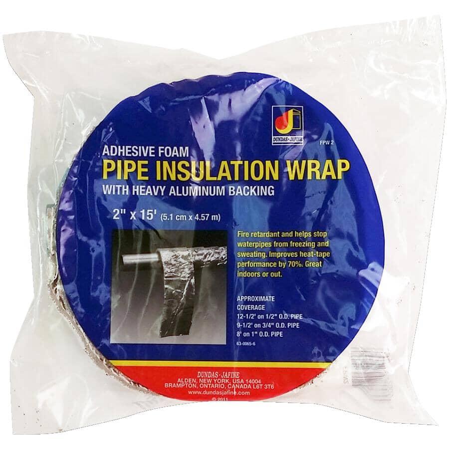 "DUNDAS-JAFINE:Aluminum Backed Foam Pipe Insulation Wrap - 2"" x 15'"
