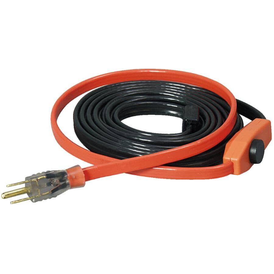 EASYHEAT:Pipe Heating Cable - with Automatic Thermostat, 80'