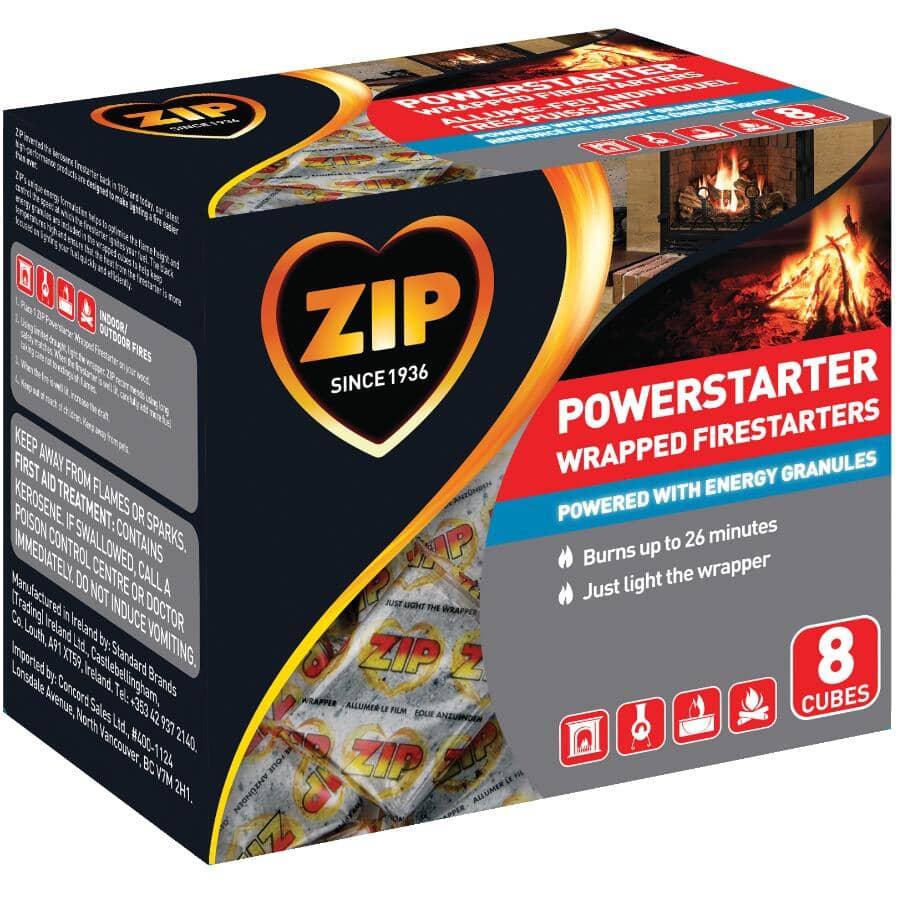 ZIP:Powerstarter Wrapped Firestarters - 8 Pack