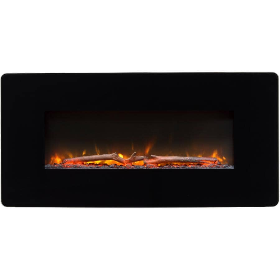 "DIMPLEX:Winslow 36"" Wall Mount Electric Fireplace - Black"