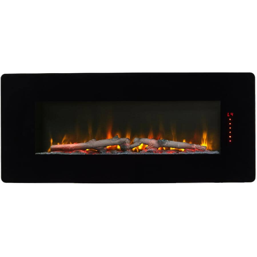 "DIMPLEX:Winslow 42"" Wall Mount Electric Fireplace - Black"