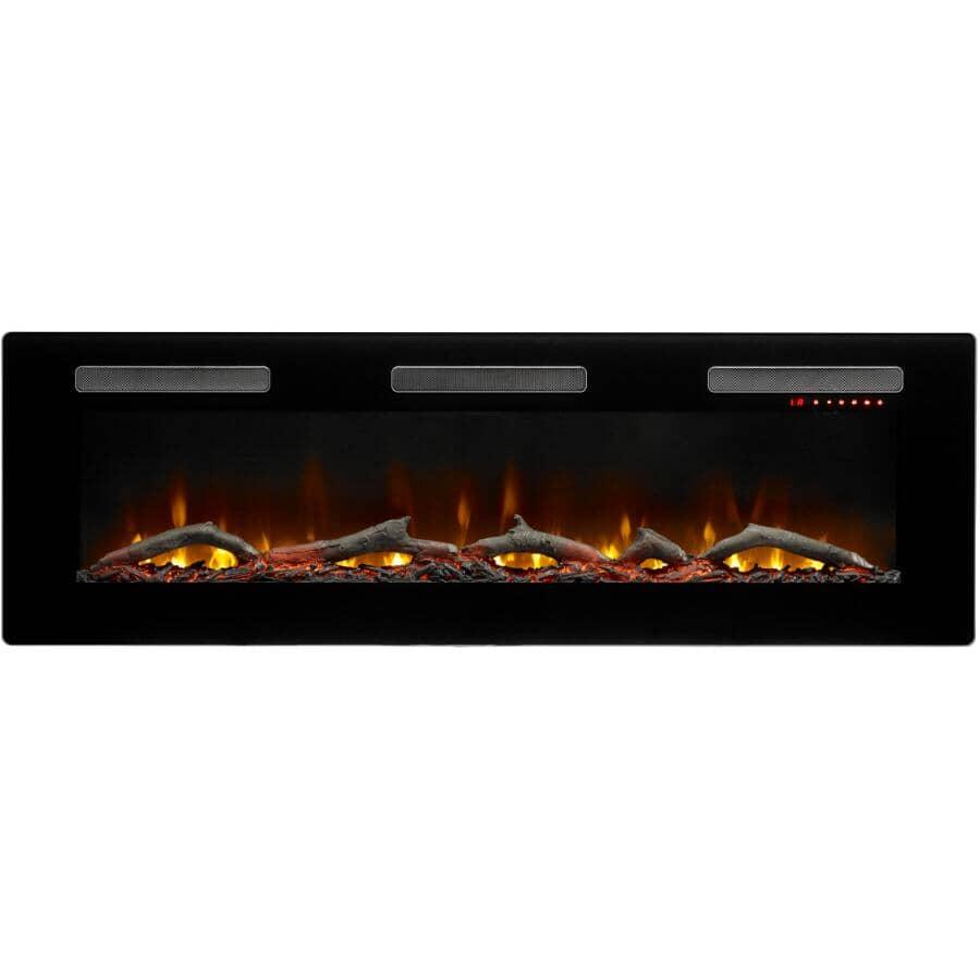 "DIMPLEX:Sierra 60"" Wall Mount Electric Fireplace - Black"
