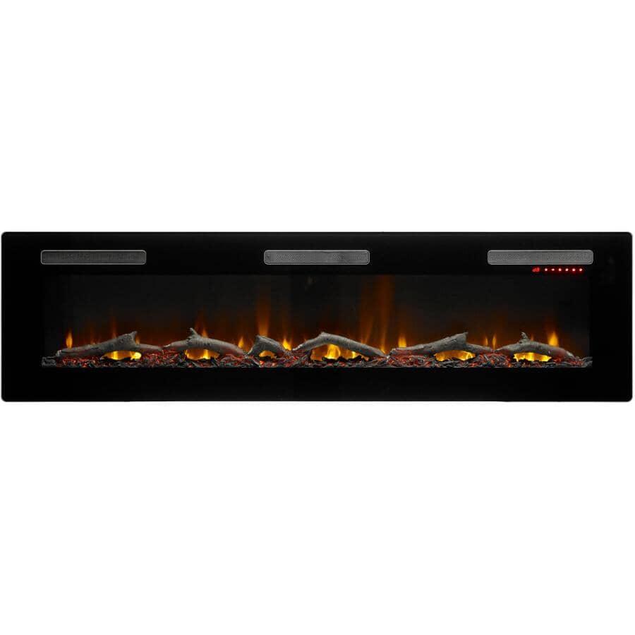 "DIMPLEX:Sierra 72"" Wall Mount Electric Fireplace - Black"