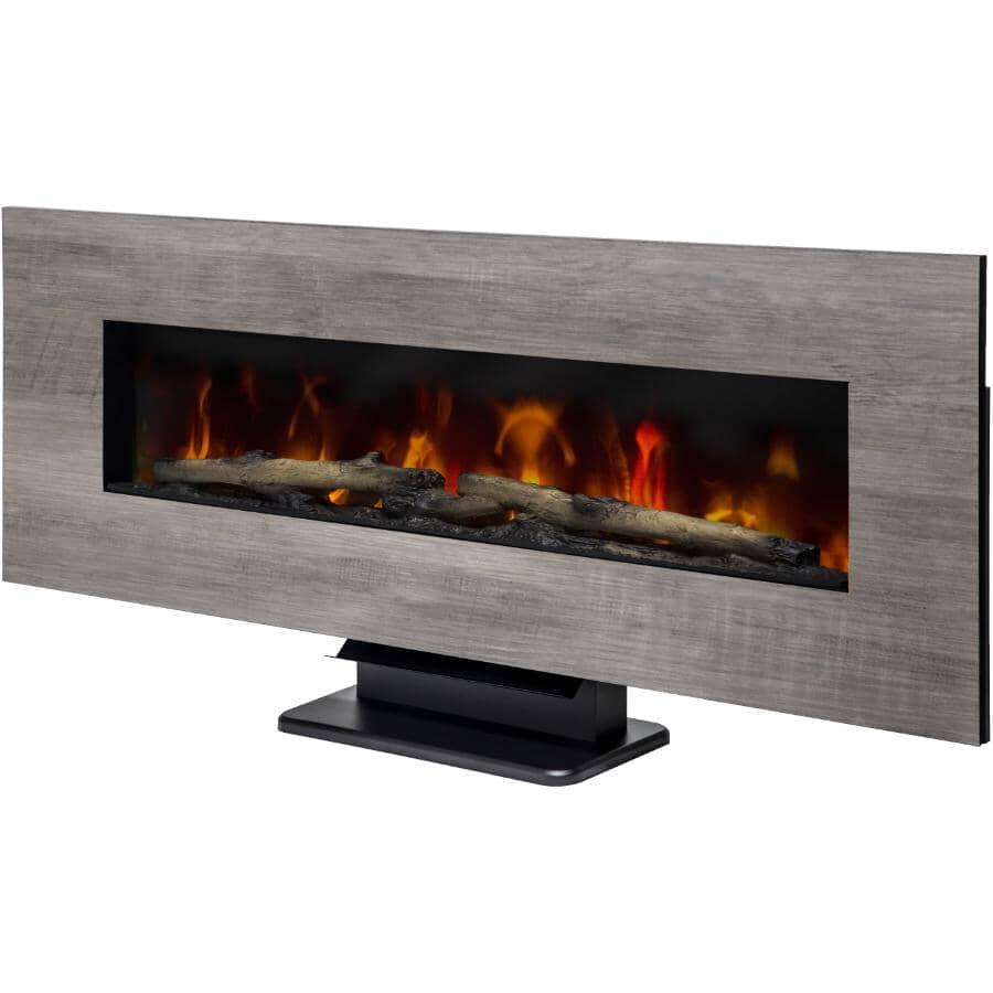 "MUSKOKA:48"" Wall Mount Electric Fireplace - Reversible Frame, Washed Grey / Drifted Oak"