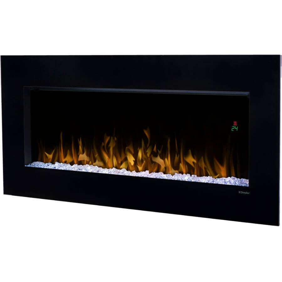 """DIMPLEX:Nicole 43"""" Wall Mount Electric Fireplace - Black"""