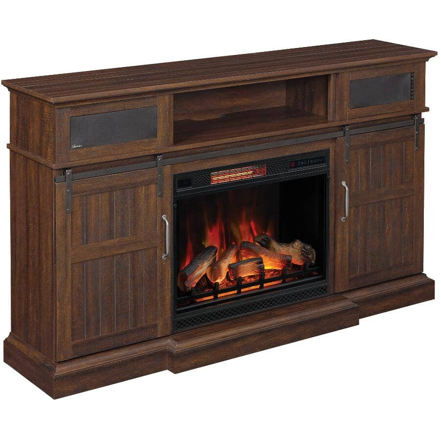 """TWIN STAR HOME:Manning 68"""" Media Electric Fireplace"""