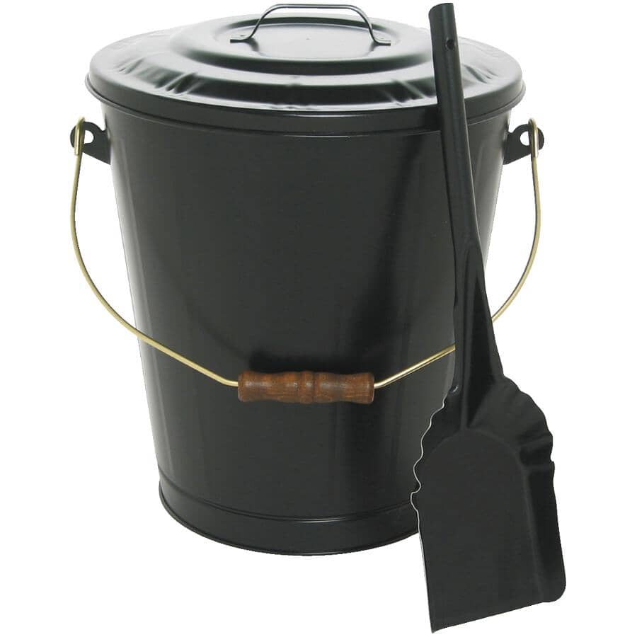 GREAT WEST METAL:Ash Container - with Lid & Shovel