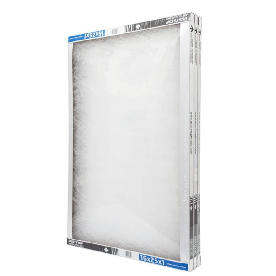 """DUSTSTOP:Furnace Filters - 1"""" x 16"""" x 25"""", 3 Pack"""