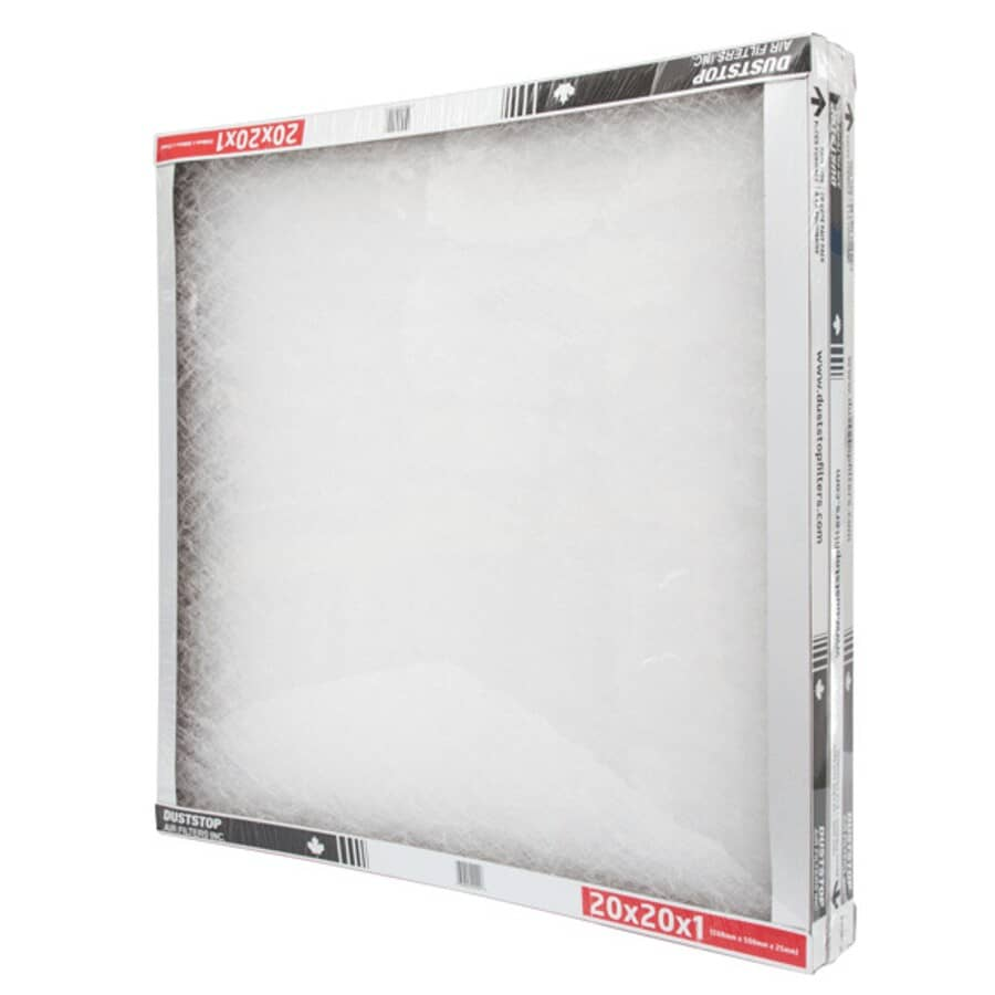 """DUSTSTOP:Furnace Filters - 1"""" x 20"""" x 20"""", 3 Pack"""