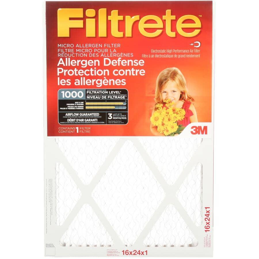 """FILTRETE:Allergen Defense Micro Allergen Furnace Filter - 16"""" x 24"""" x 1"""""""