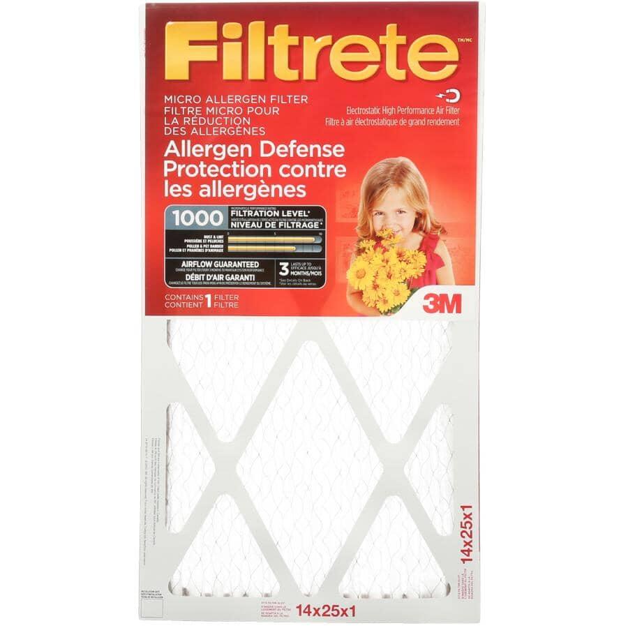 """FILTRETE:Allergen Defense Micro Allergen Furnace Filter - 14"""" x 25"""" x 1"""""""